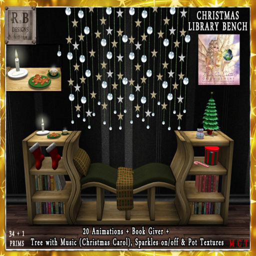 _RnB_ Christmas Library Bench - 20 Anims - POE5 Gift PIC